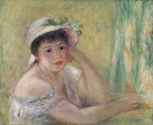 ピエール=オーギュスト・ルノワール<br /> 《麦わら帽子を被った女》1880年<br /> 北九州市立美術館蔵
