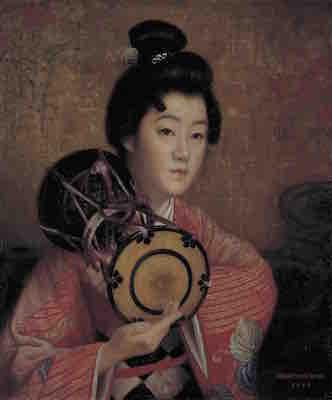 岡田三郎助《婦人像》1907年