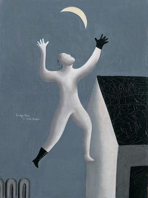 《超現実派の散歩》1929年<br /> 東郷青児記念 損保ジャパン日本興亜美術館