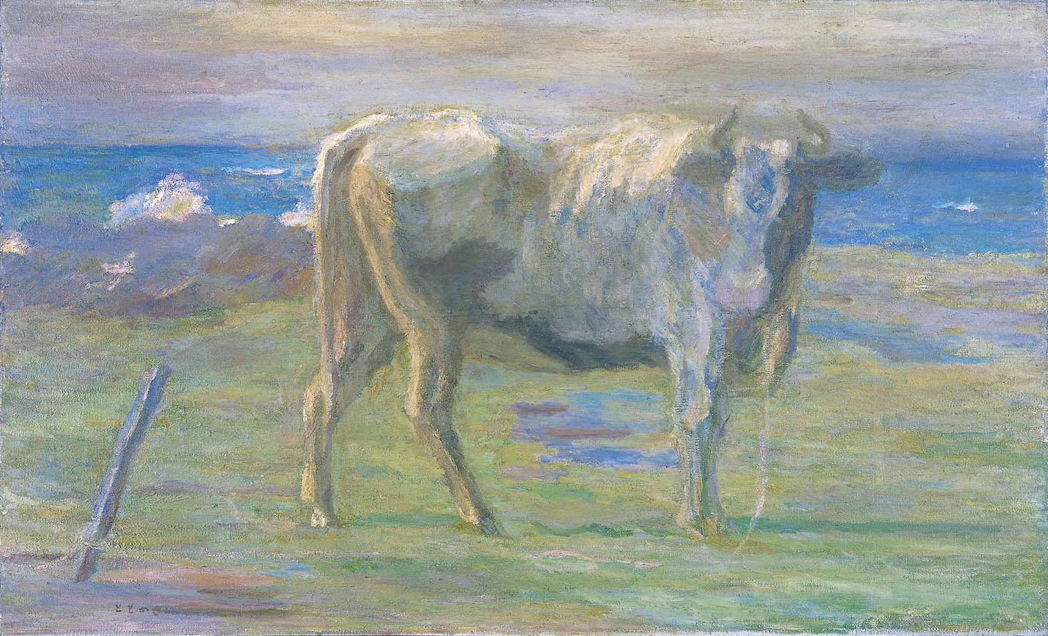 坂本繁二郎<br /> 《海岸の牛》1914年<br /> 北九州市立美術館蔵
