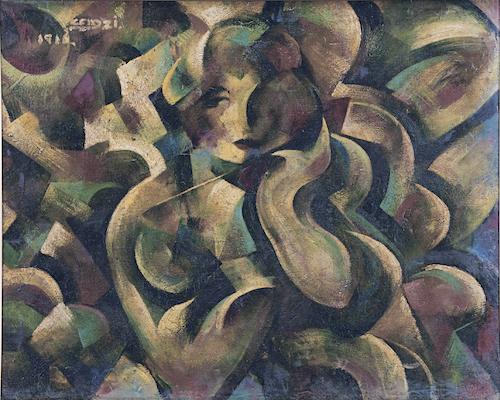《パラソルさせる女》1916年<br /> 一般財団法人 陽山美術館