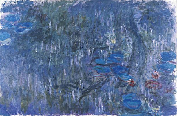 クロード・モネ<br /> 《睡蓮、柳の反影》1916-19年頃<br /> 北九州市立美術館蔵