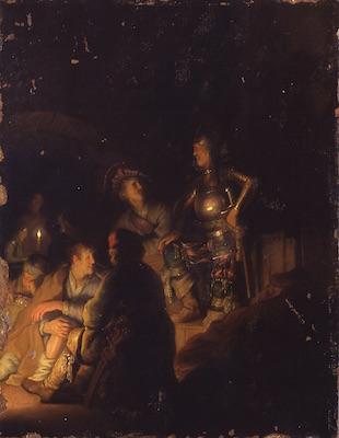 レンブラント・ファン・レイン<br /> 《聖書あるいは物語に取材した夜の情景》<br /> 1926-28年