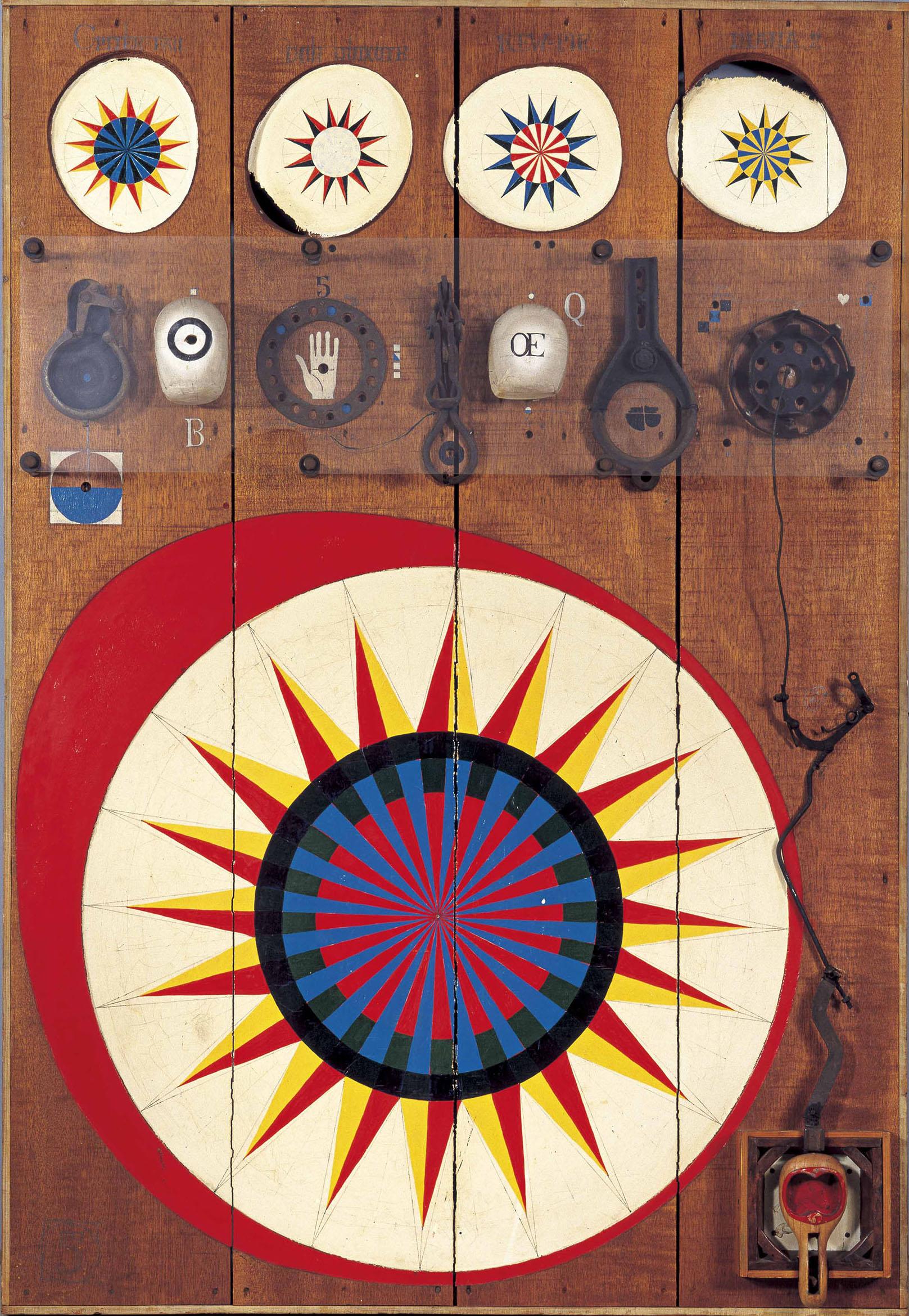 菊畑茂久馬<br /> 《ルーレットNo.1》1964年<br /> 福岡市美術館蔵