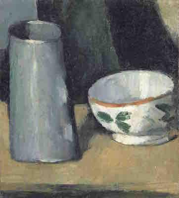 ポール・セザンヌ《鉢と牛乳入れ》<br /> 1873-77年頃