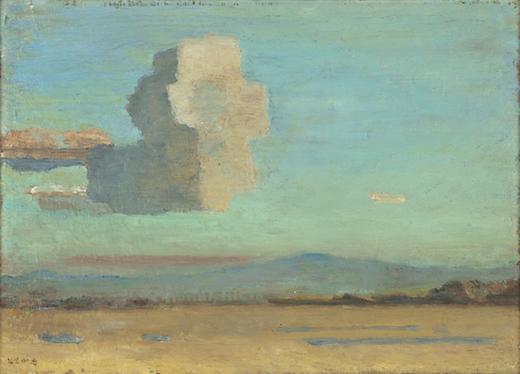 坂本繁二郎《鳶形山》1932年 個人蔵