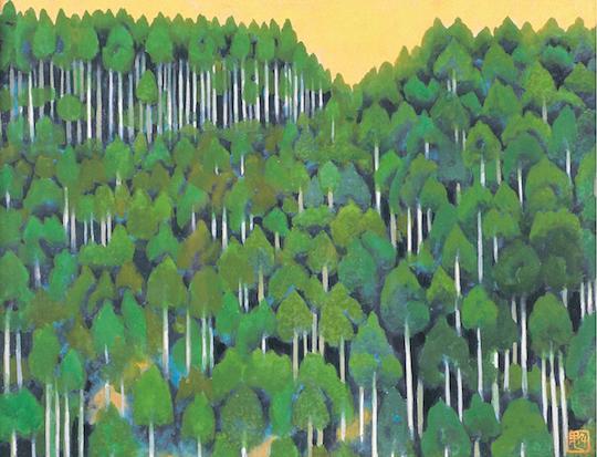 東山魁夷《冬の花(習作)》1962年<br /> 公益財団法人川端康成記念会蔵