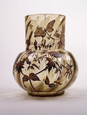 エミール・ガレ《蜻蛉草花文花瓶》1880-1900年頃