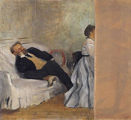 エドガー・ドガ<br /> 《マネとマネ夫人像》1868-69年頃<br /> 北九州市立美術館蔵