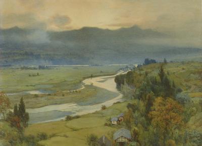 吉田博《風景》1909年