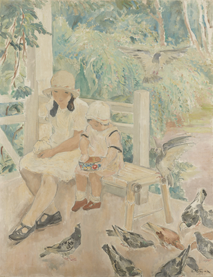 北島浅一《鳩》1928年