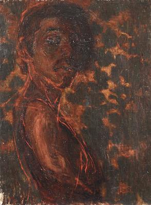 青木繁《自画像》1903年 <br /> 石橋財団寄託作品