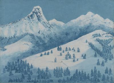 海老原喜之助《雪景》1930年