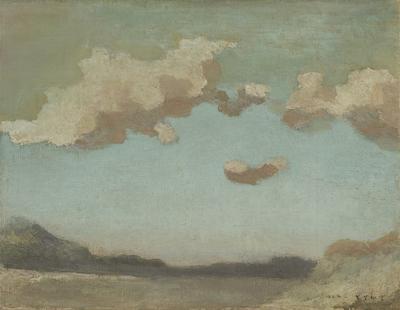 坂本繁二郎《放水路の雲》1924年