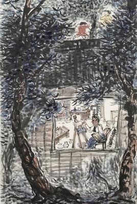 椿貞雄《画家の家》(部分)<br /> 1935年 米沢市上杉博物館