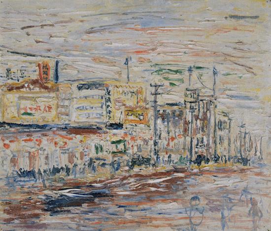 《新宿風景》1937年<br /> 東京国立近代美術館蔵