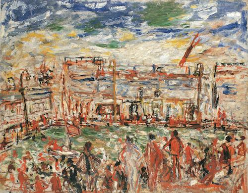 《水泳場》1932年<br /> 板橋区立美術館蔵