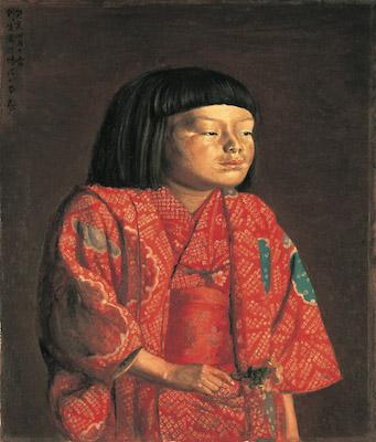岸田劉生《童女図(麗子立像)》<br /> 1923年 神奈川県立近代美術館