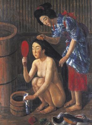 椿貞雄《髪すき図》<br /> 1931年 東京国立近代美術館