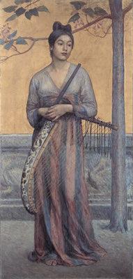 藤島武二《天平の面影》1902年
