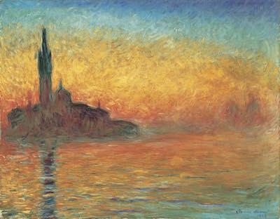 クロード・モネ《黄昏、ヴェネツィア》<br /> 1908年頃