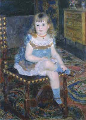 ピエール=オーギュスト・ルノワール<br /> 《すわるジョルジェット・シャルパンティエ嬢》1876年