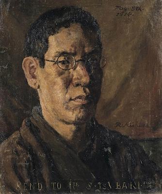 岸田劉生《椿君に贈る自画像》<br /> 1914年 東京都現代美術館
