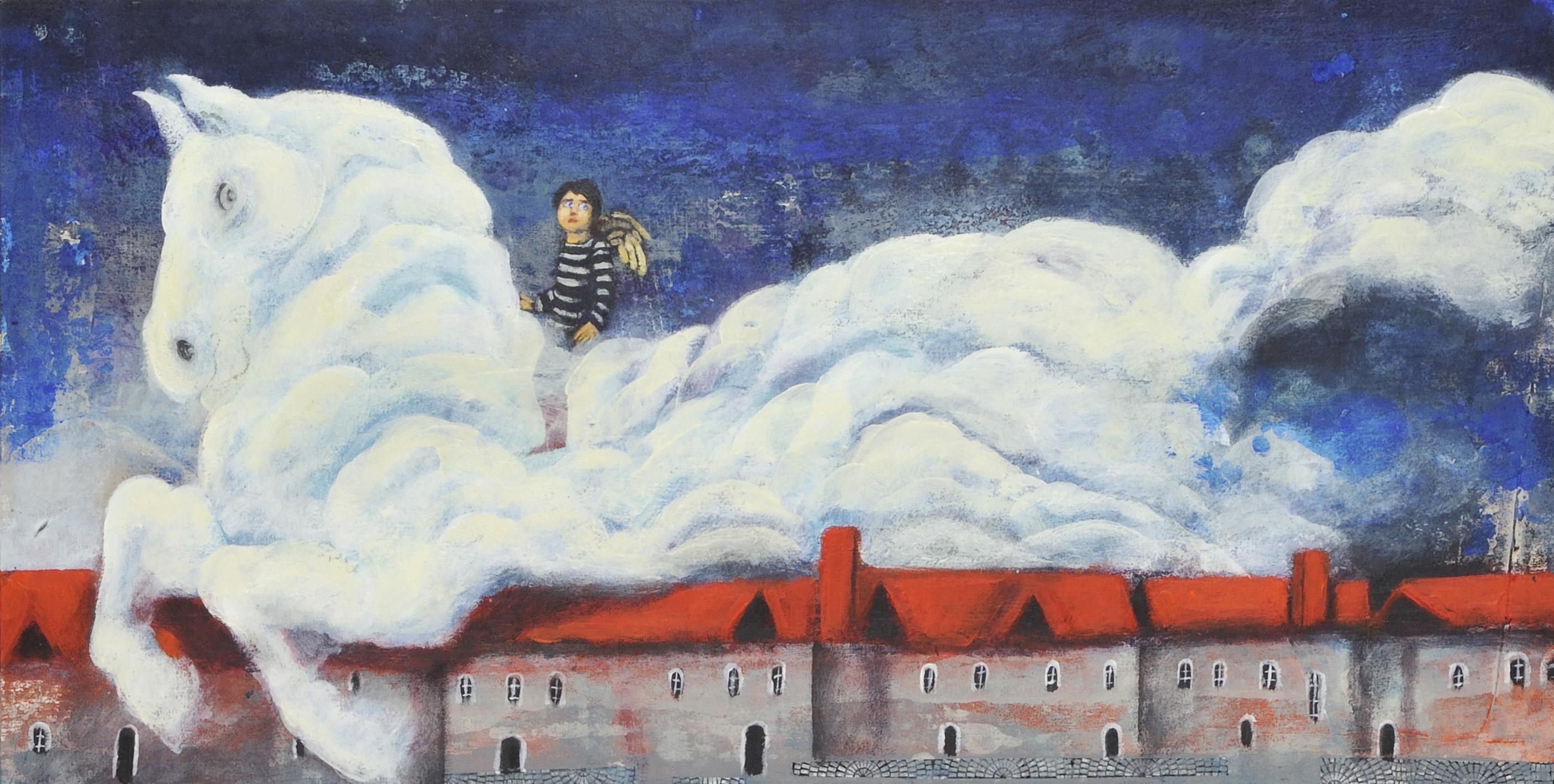 アリレザ・ゴルドゥズィヤン《金色の羽を持つ、青い目をした三人の天使》<br /> © 2017 kanoon/ Institute for the Intellectual Development of Children & Young Adults<br />