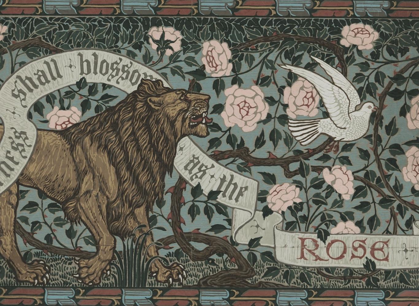 ウォルター・クレイン《ライオンとはと》1900年