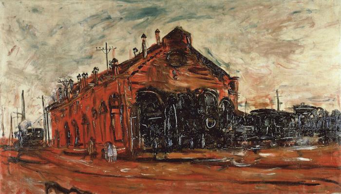 《汽罐車庫》1928年<br /> 鉄道博物館蔵