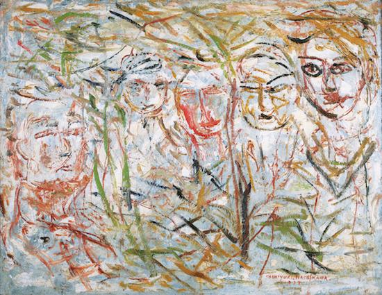 《白い背景の人物》1937年<br /> 個人蔵