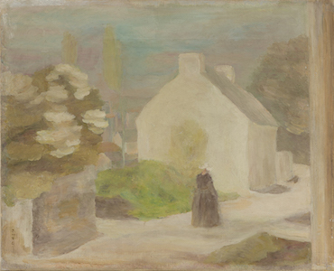 坂本繁二郎《ヴァンヌ風景》1923年