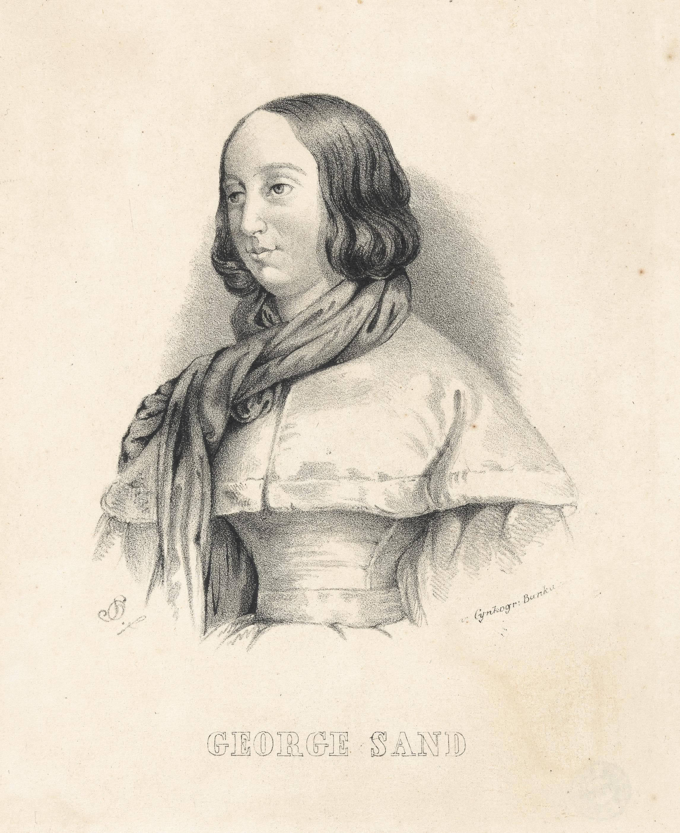 オレシュチンスキ《ジョルジュ・サンドの肖像》1850年頃 NIFC