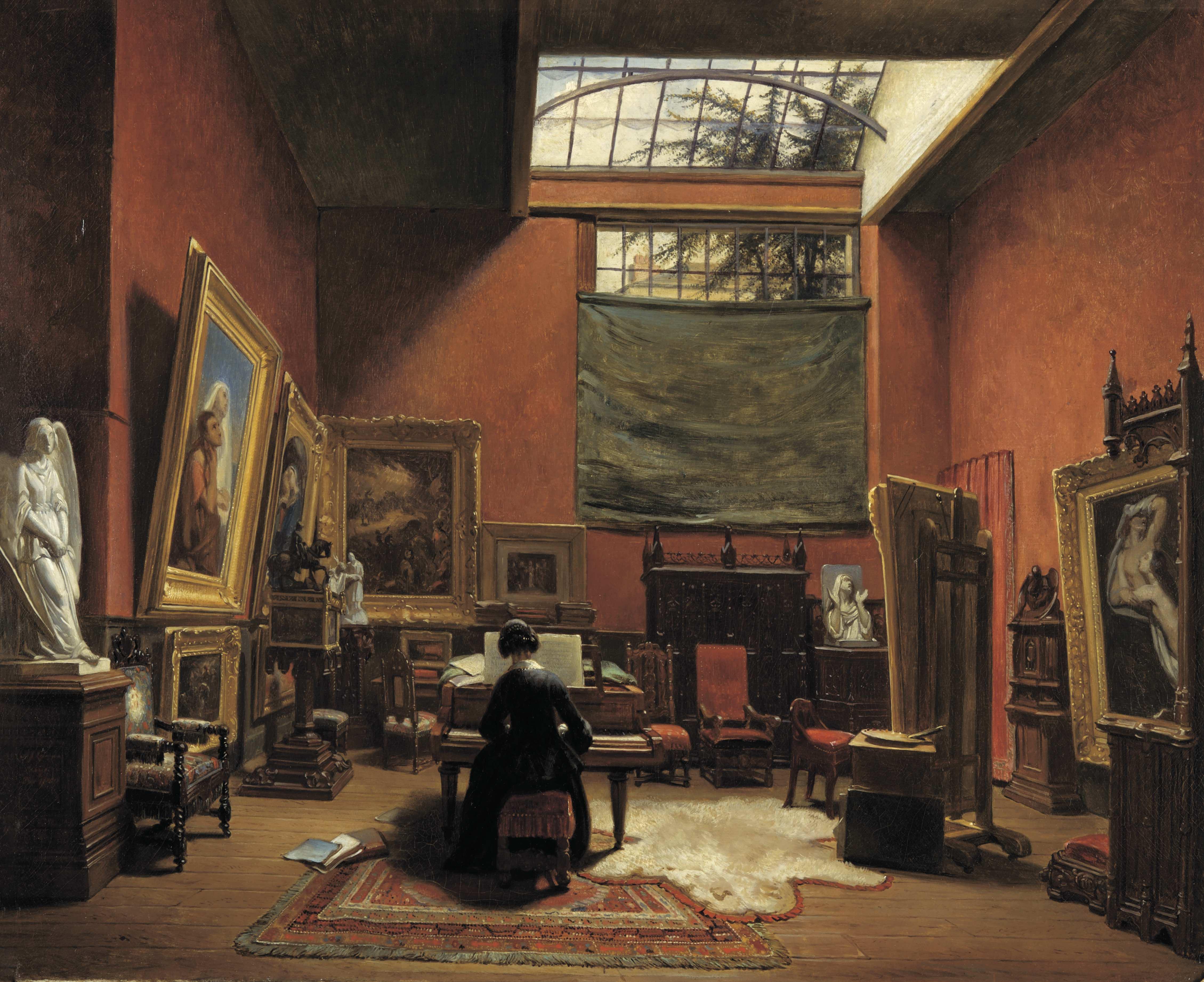 ランメ《アリ・シェフェール邸》1850年 ドルトレヒト美術館
