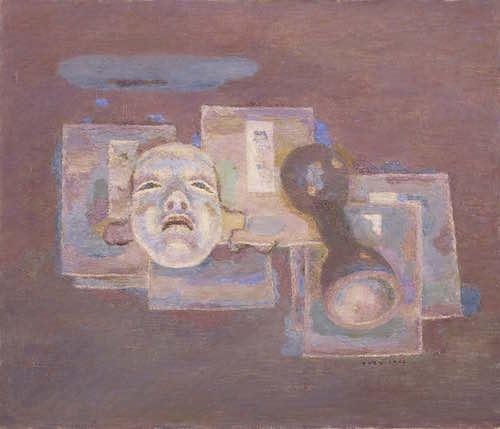 《能面と鼓の胴》1962年<br /> 石橋財団ブリヂストン美術館蔵