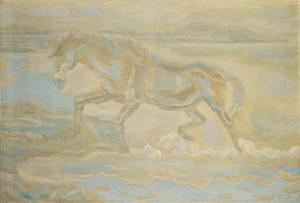 《水より上る馬》1937年<br /> 東京国立近代美術館蔵