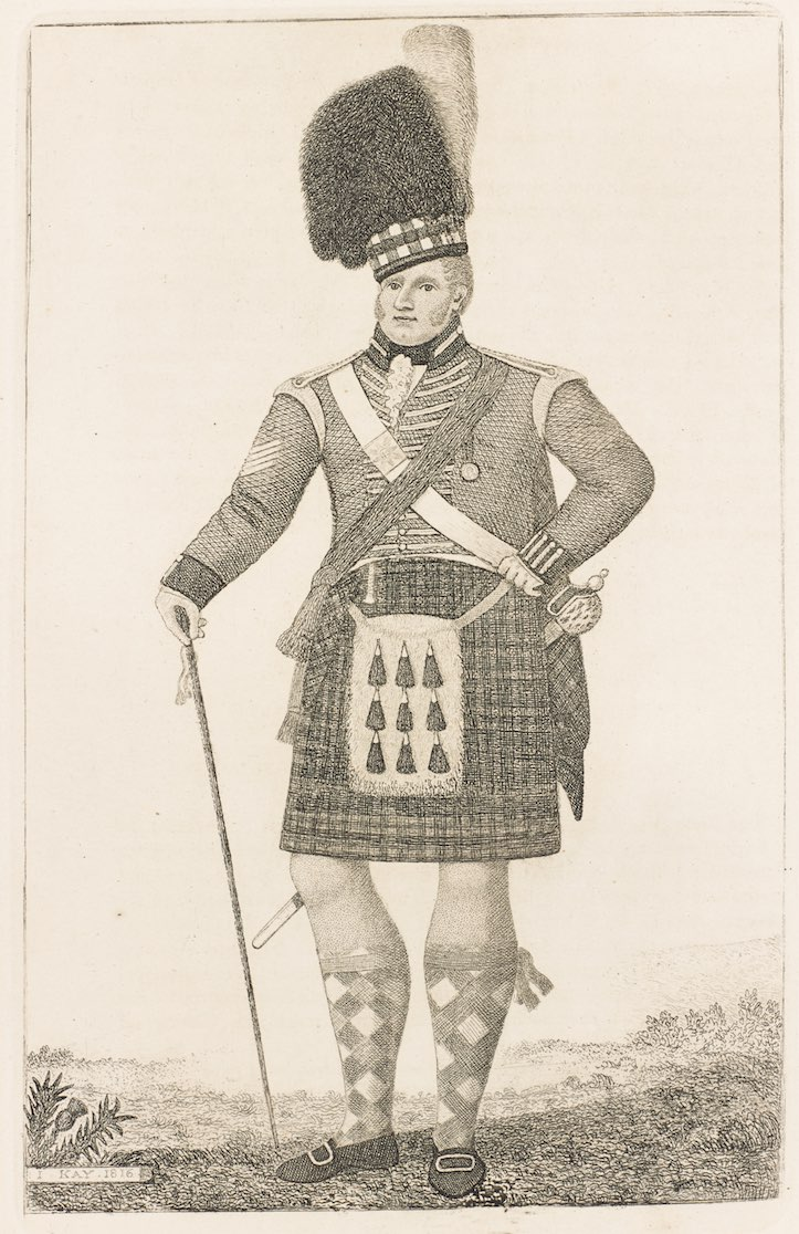 ジョン・ケイ<br /> 《ロイヤル・ハイランダーズ隊下士官 ウィリアム・ダフ》1816年