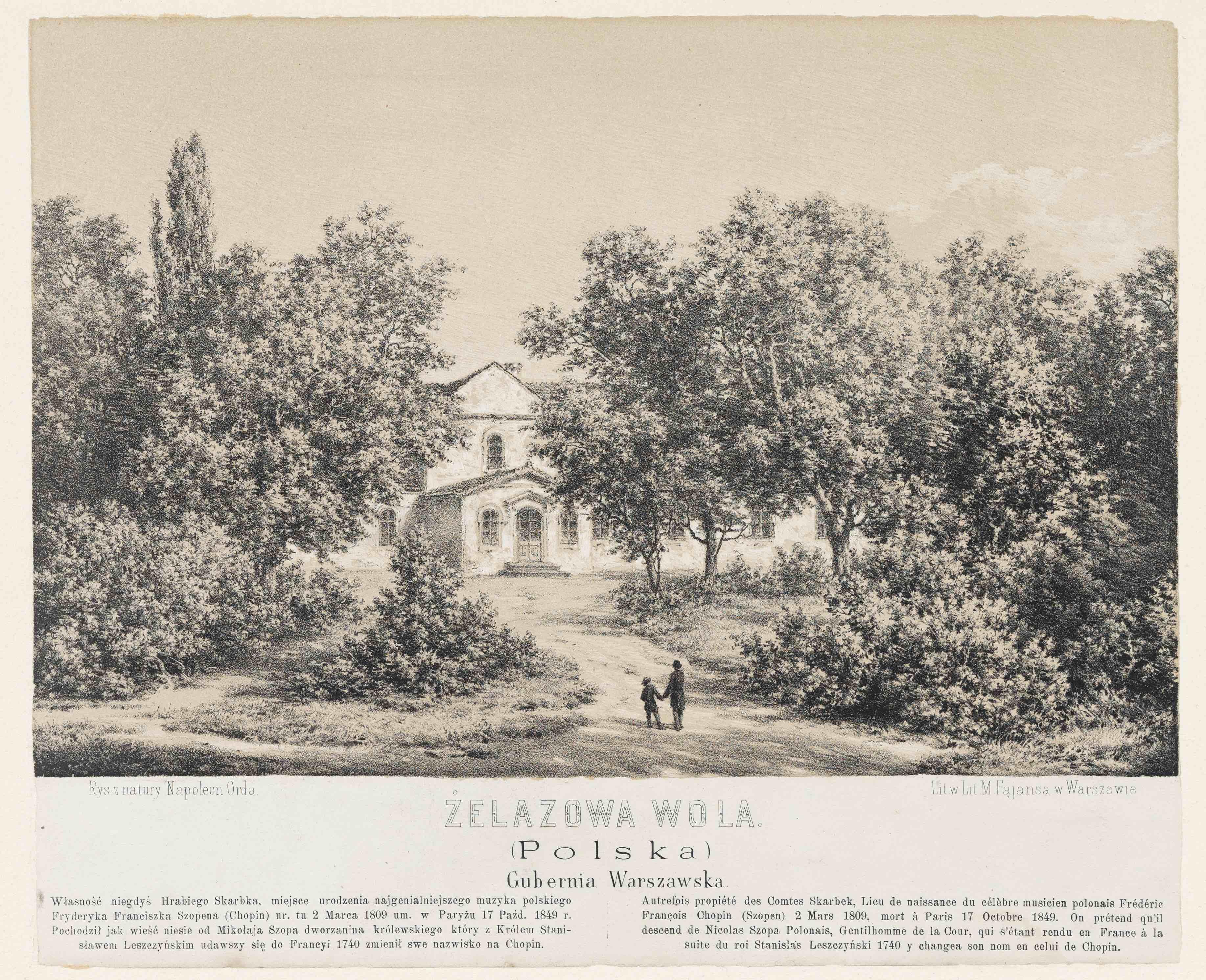 《ジェラゾヴァ・ヴォラ》(書籍『同胞達に捧げるポーランドの歴史的風景の選集』8, pl.248)1882-83年 NIFC