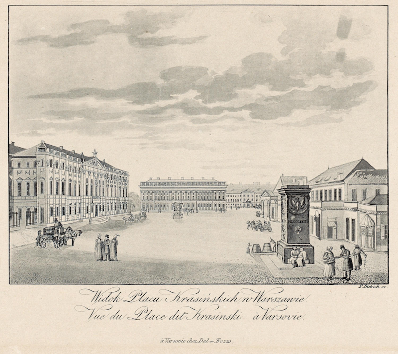 ディートリヒ《ワルシャワ市内クラシンスキ広場の眺め》1827-29年 NIFC