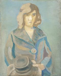 《帽子を持てる女》1923年<br /> 石橋財団ブリヂストン美術館蔵