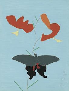 《鬼百合に揚羽蝶》1959年<br /> 東京国立近代美術館