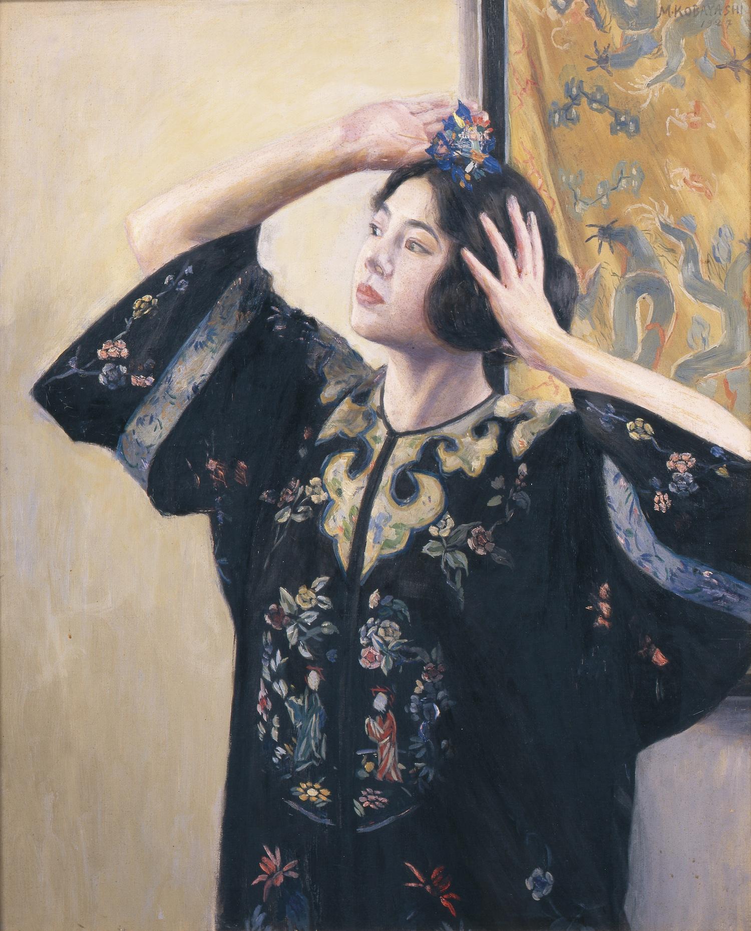 小林萬吾《花鈿》1927年<br /> 香川県立ミュージアム