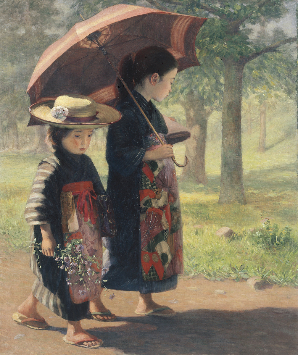 児島虎次郎《登校》1906年 高梁市成羽美術館