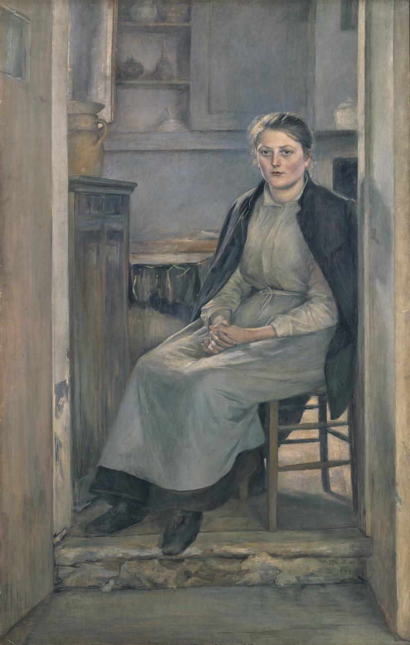 黒田清輝《婦人像(厨房)》1892年 <br /> 東京藝術大学