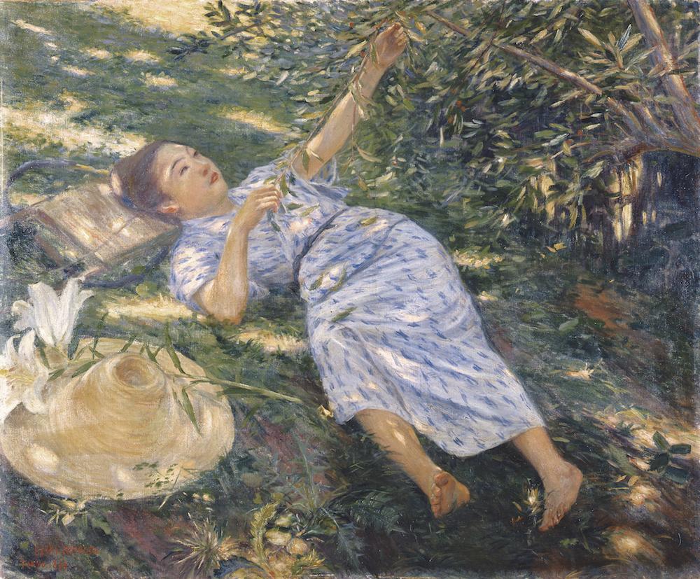 黒田清輝《木かげ》1898年 ウッドワン美術館