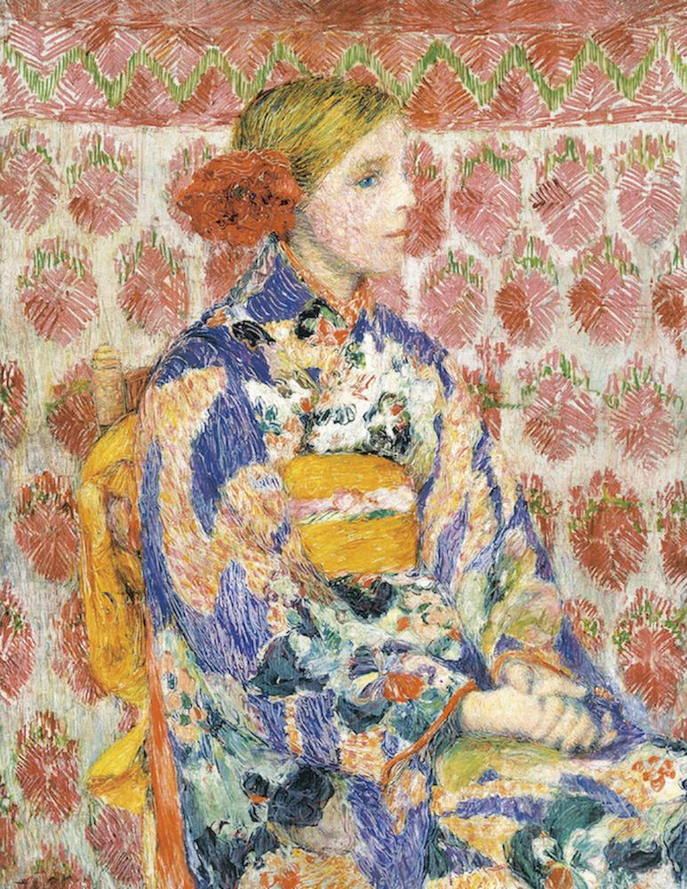児島虎次郎《和服を着たベルギーの少女》<br /> 1910年 高梁市成羽美術館