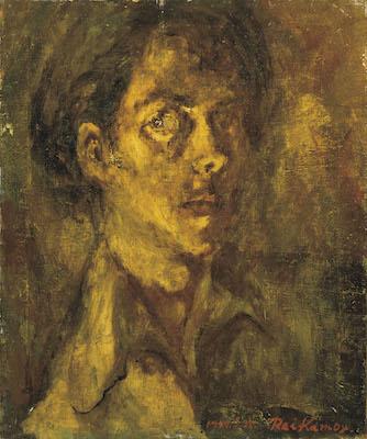 《夜(自画像)》1947年<br /> 笠間日動美術館