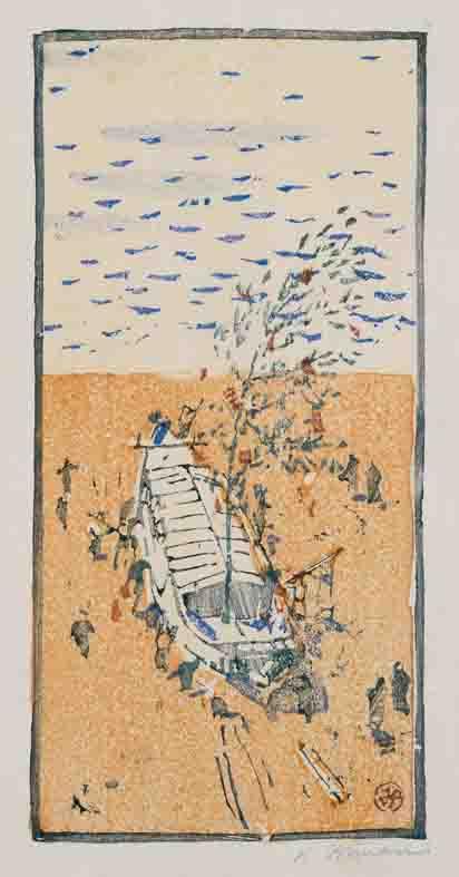 《舟おろし》1911年頃 千葉市美術館蔵<br /> (後期展示)