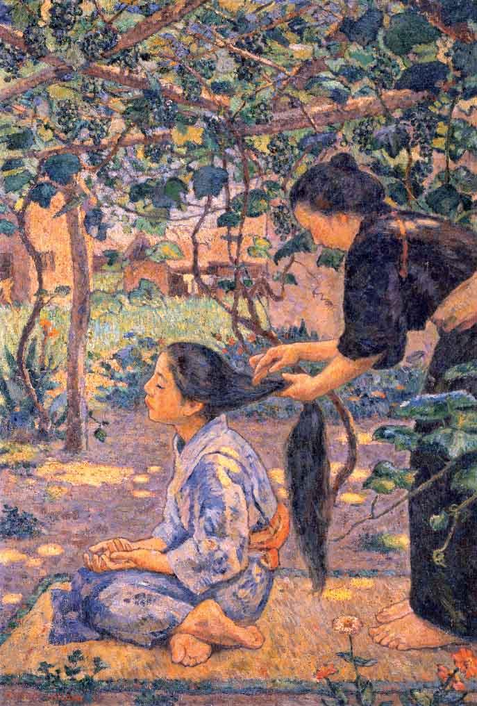 《葡萄棚》1915年<br /> 早稲田大学會津八一記念博物館蔵