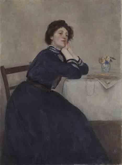 《坐せる女》1908年 広島県立美術館蔵